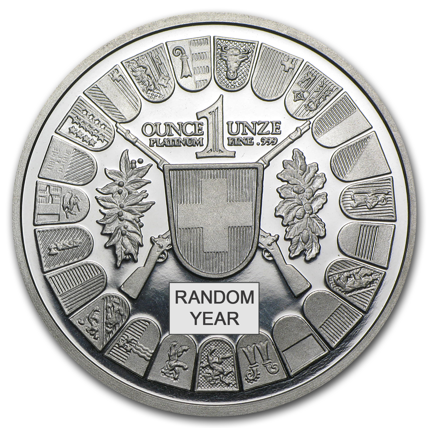 1 oz Swiss Platinum Shooting Thaler Proof