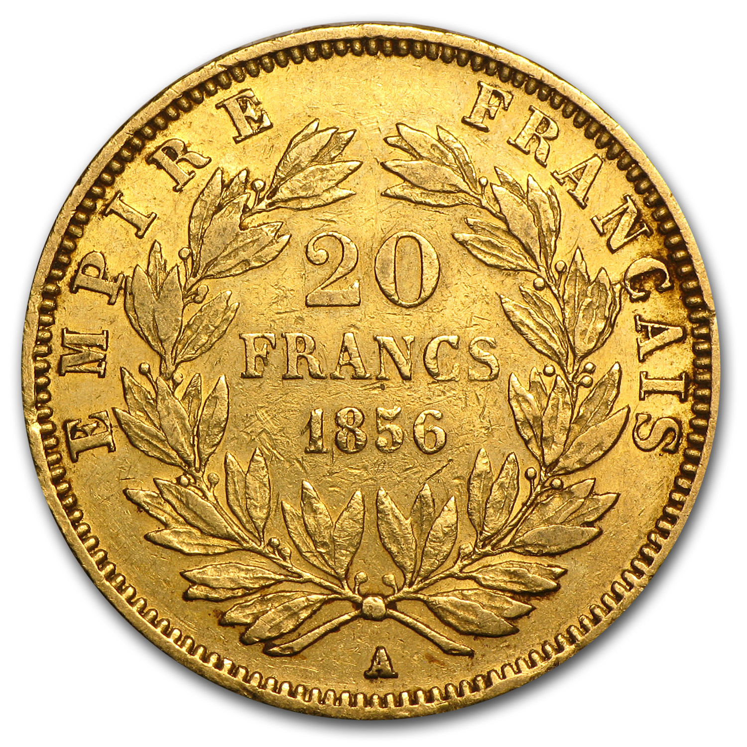 1853-1870 France Gold 20 Francs Napoleon III Avg Circ