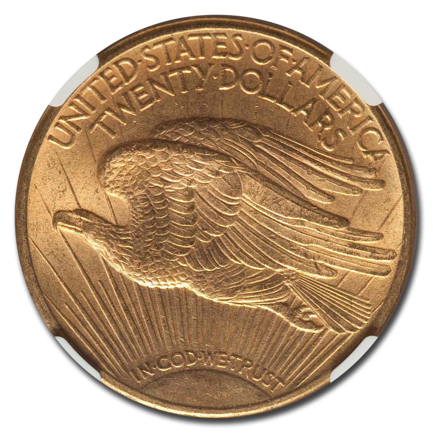1914-D $20 St. Gaudens Gold Double Eagle MS-64 NGC