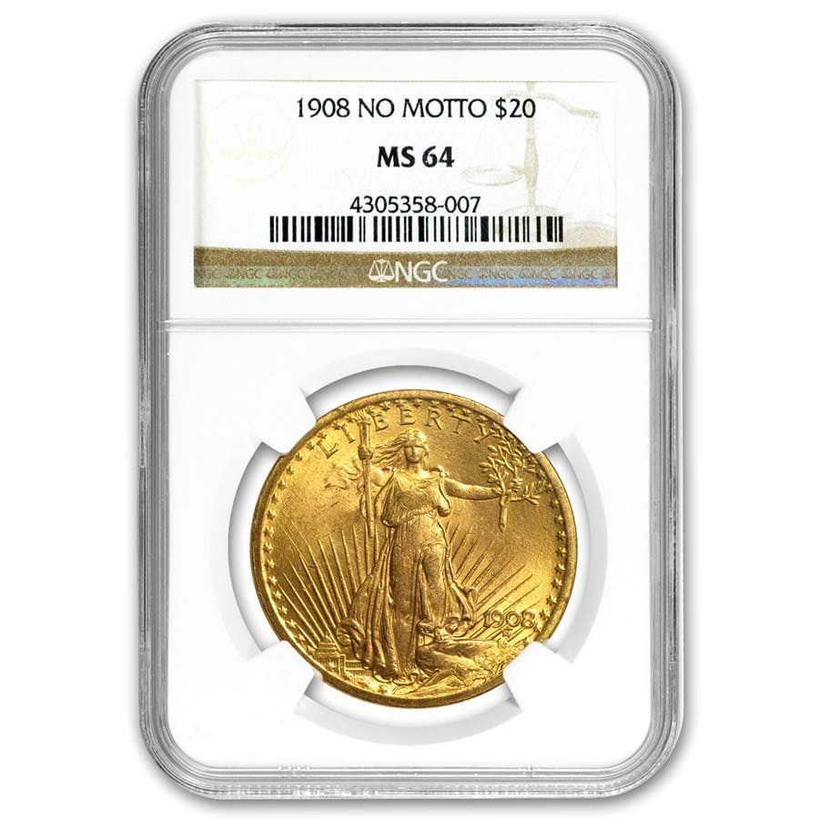$20 Saint-Gaudens Gold Double Eagle MS-64 NGC