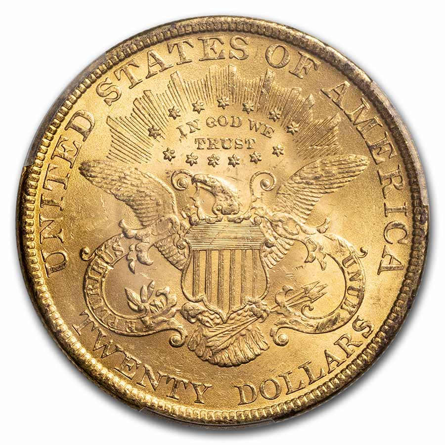 1899 $20 Gold Liberty Double Eagle - MS-63 PCGS