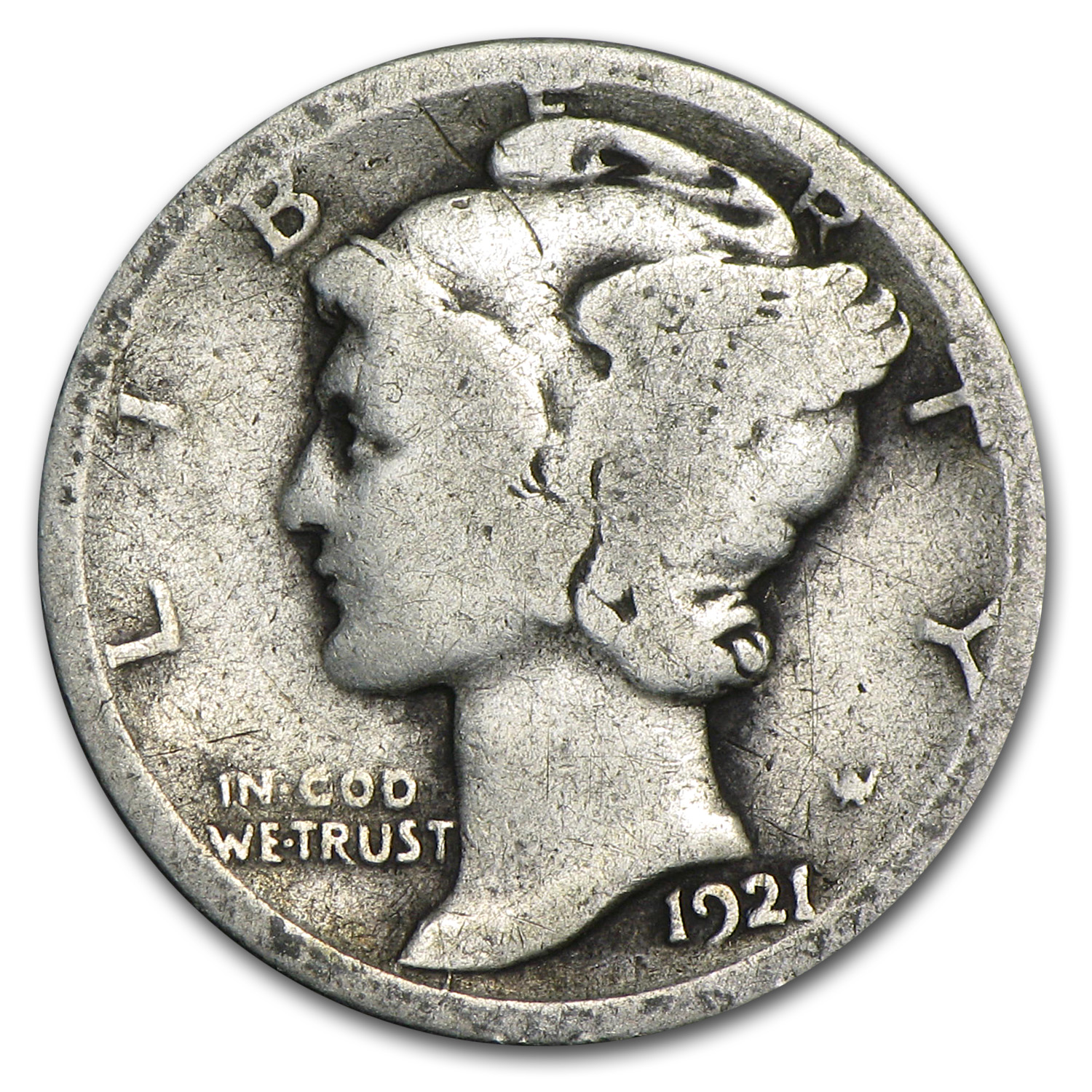 1921-D Mercury Dime - Good