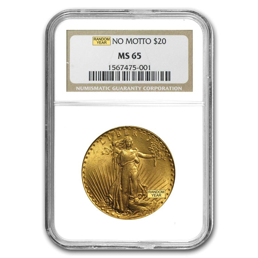 $20 Saint-Gaudens Gold Double Eagle MS-65 NGC (Random)