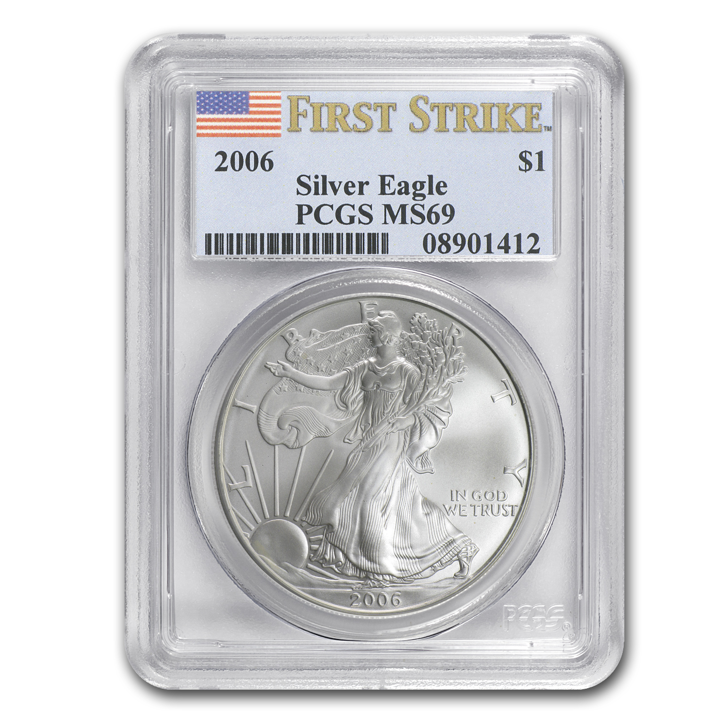 2006 Silver American Eagle - MS-69 PCGS - First Strike