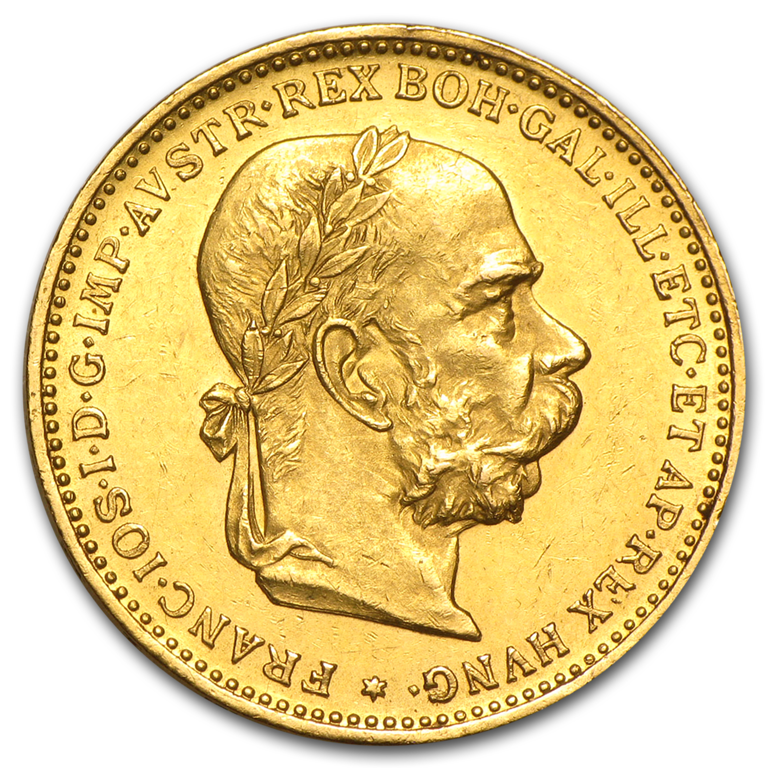 Austria 1892-1912 Gold 20 Coronas - (Almost Uncirculated)