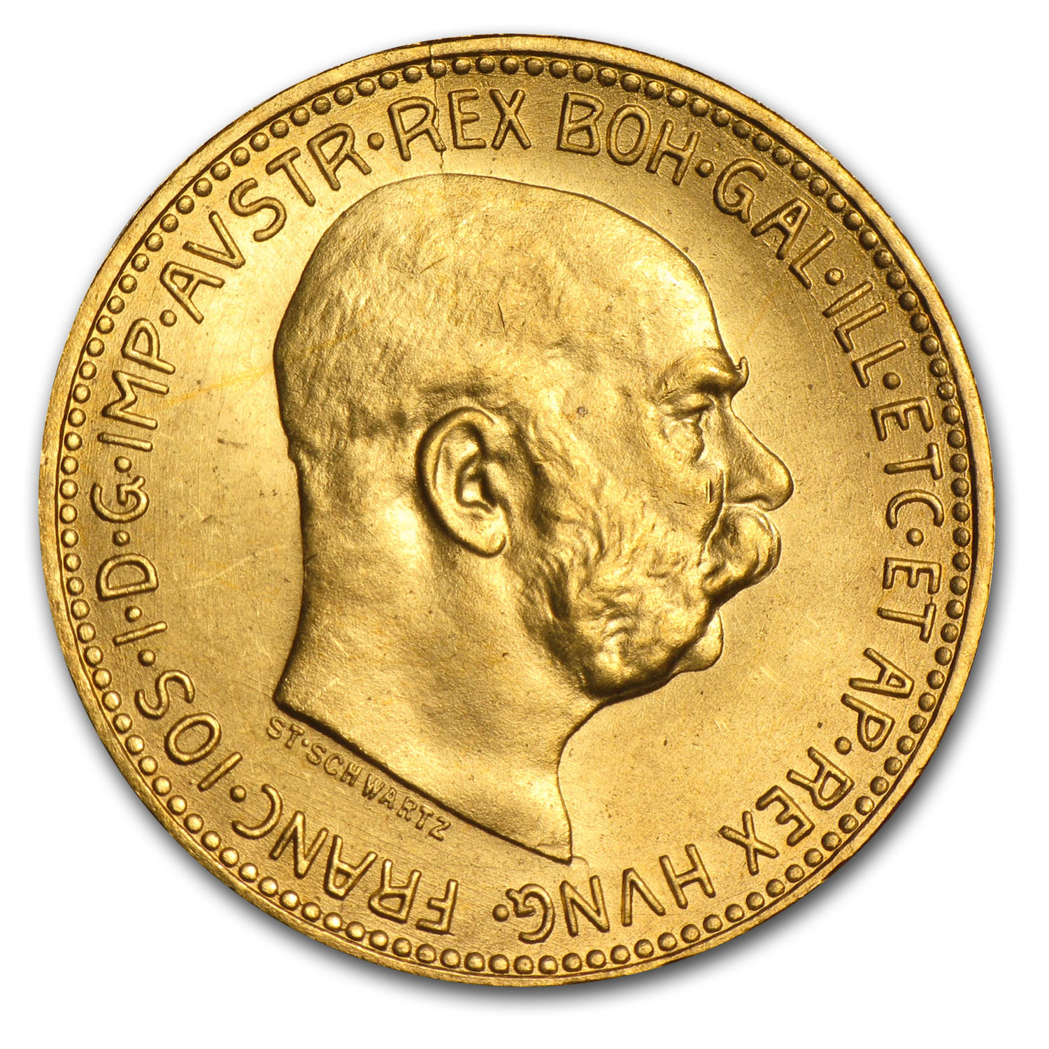 Austria Gold - 20 Coronas (Almost Uncirculated) (1915 Restrikes)