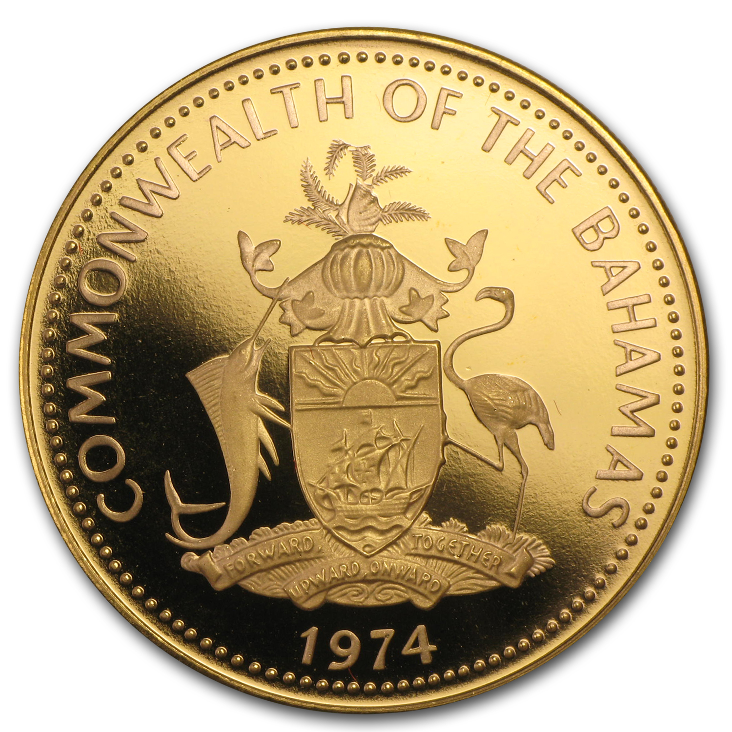 Bahamas 1974 Gold $100 Coin (Proof)