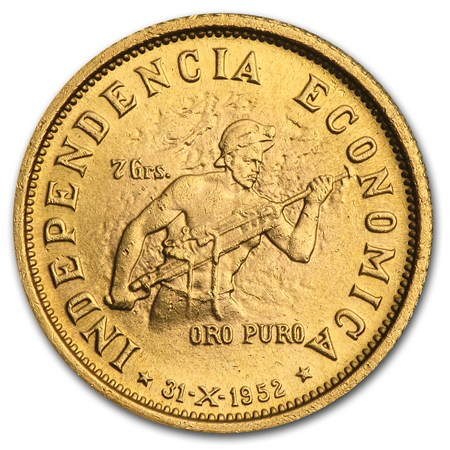 1952 Bolivia Gold 10 Bolivianos Bu Gold Coins From
