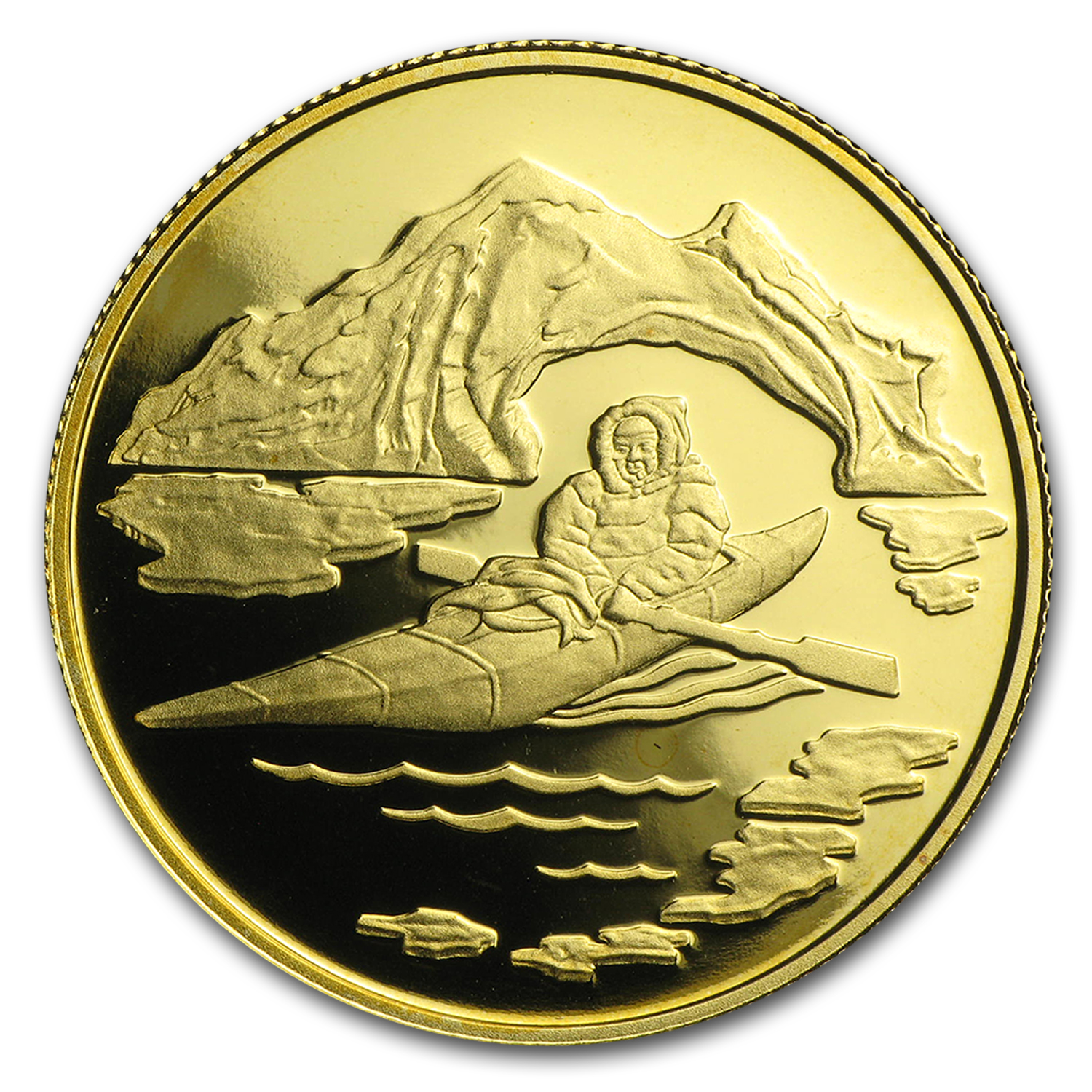 1980 Canada 1/2 oz Proof Gold $100 Arctic Territories