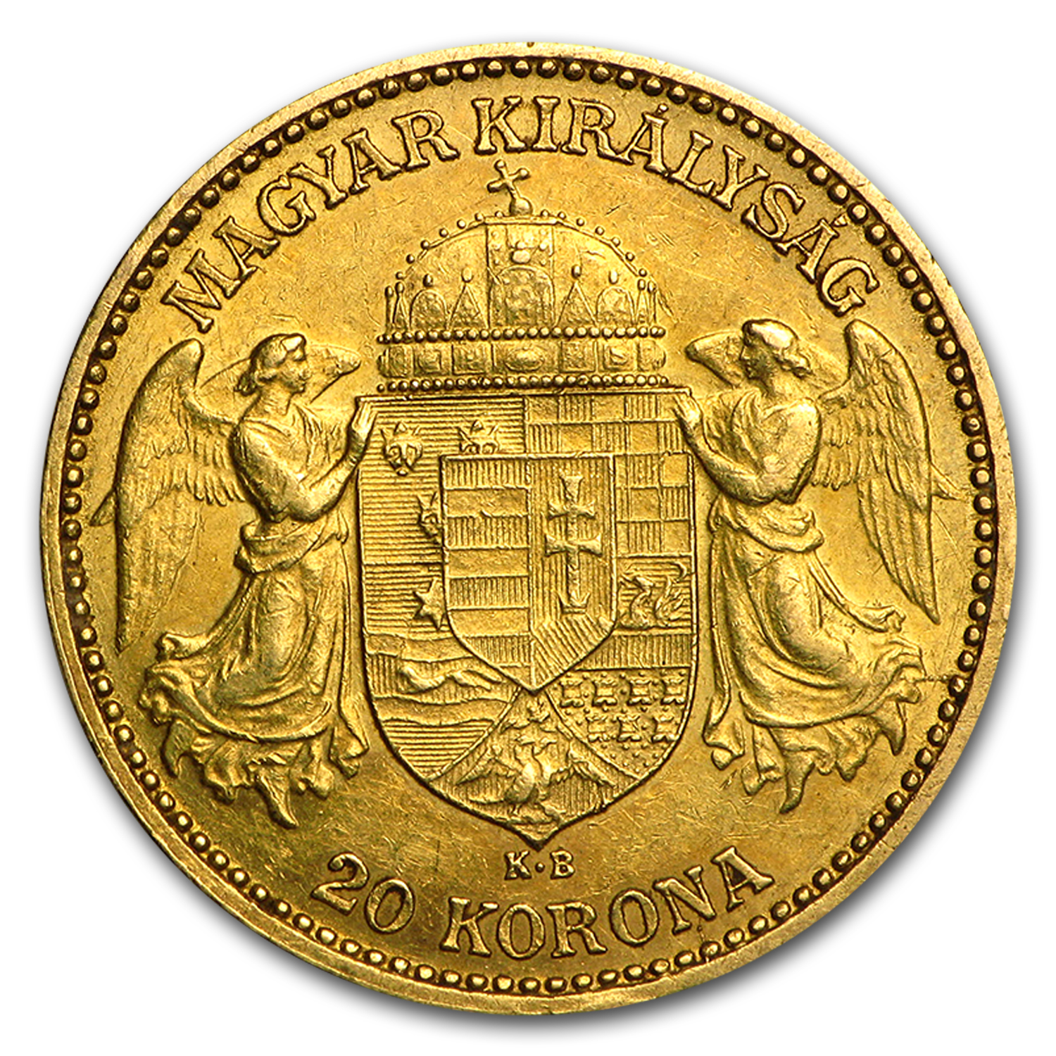Hungary Gold 20 Korona Avg Circ (AGW .1960 oz)
