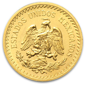 Mexican Gold 2 1/2 Pesos (Better Date - AU/BU)