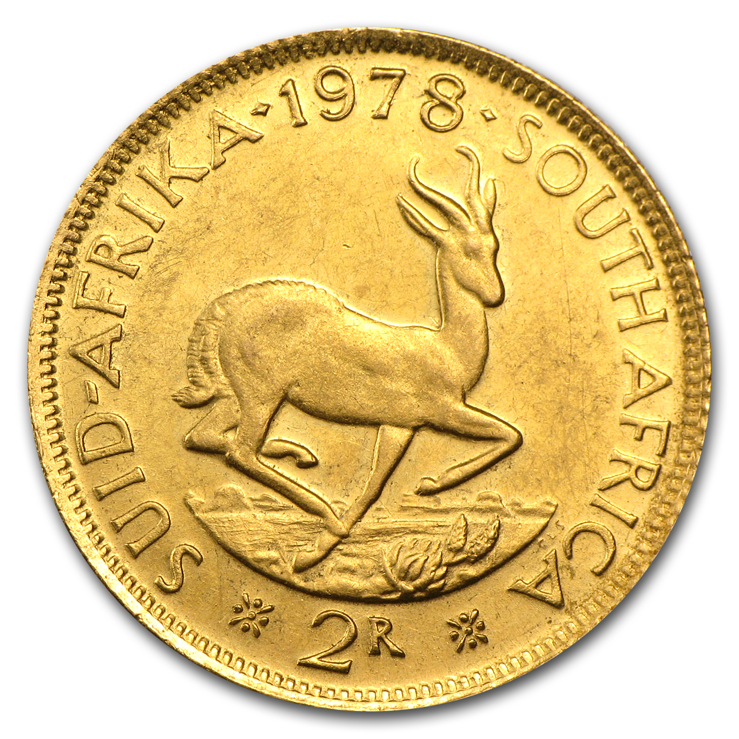 South African Gold 2 Rands (Abrasions)
