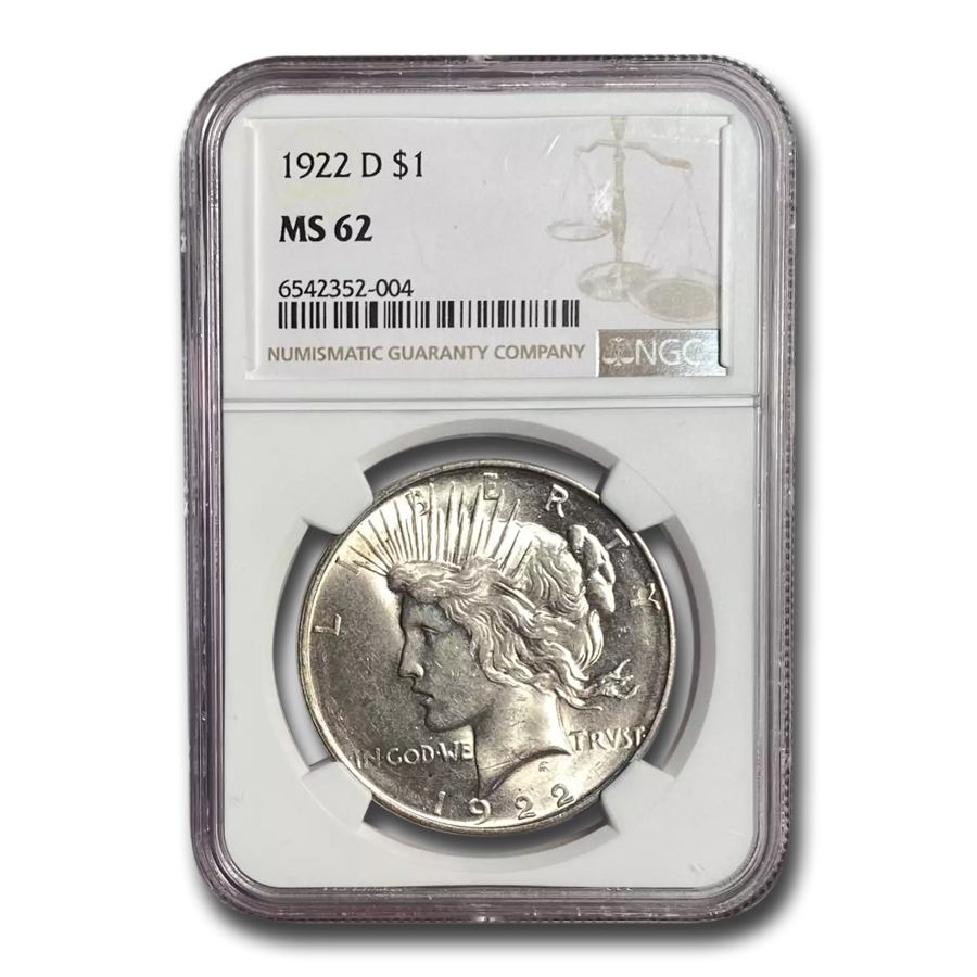 1922-D Peace Dollar MS-62 NGC