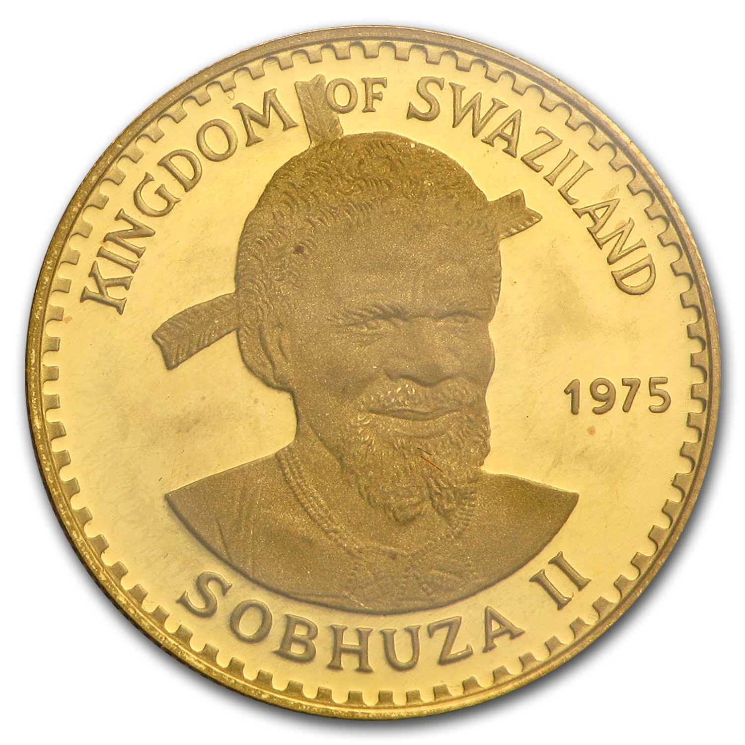 1975 Swaziland Gold 50 Emalangeni Proof