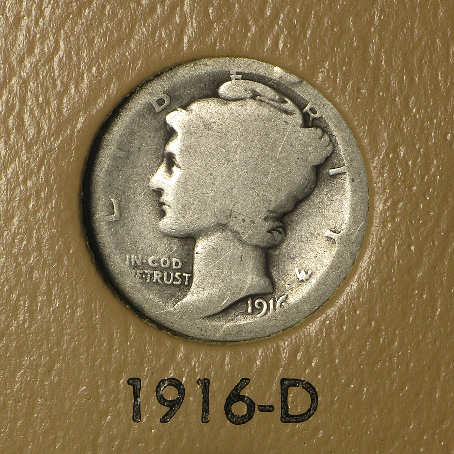 1916-1945 Complete Mercury Dime Set in Dansco Album