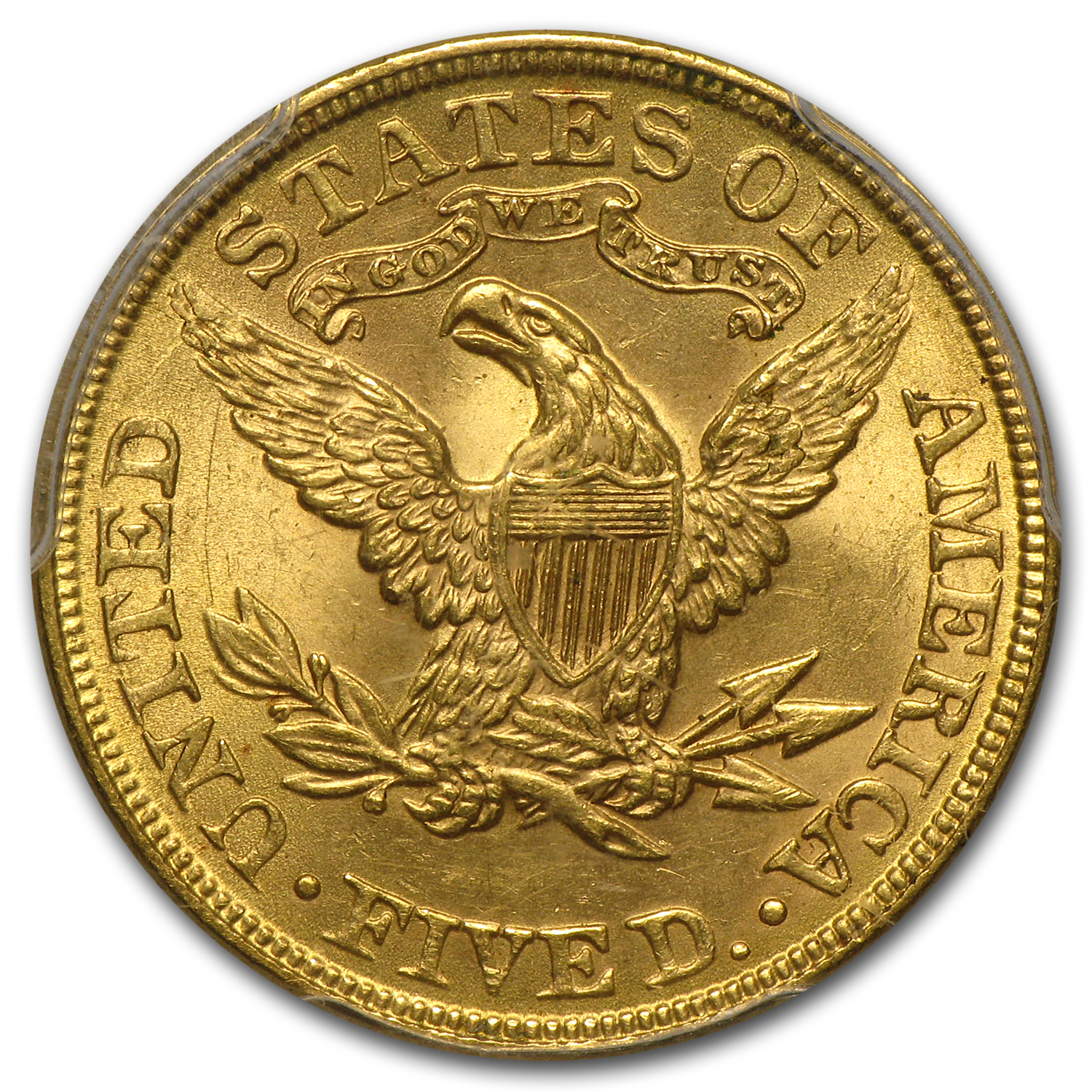 $5 Liberty Gold Half Eagle - MS-64 PCGS