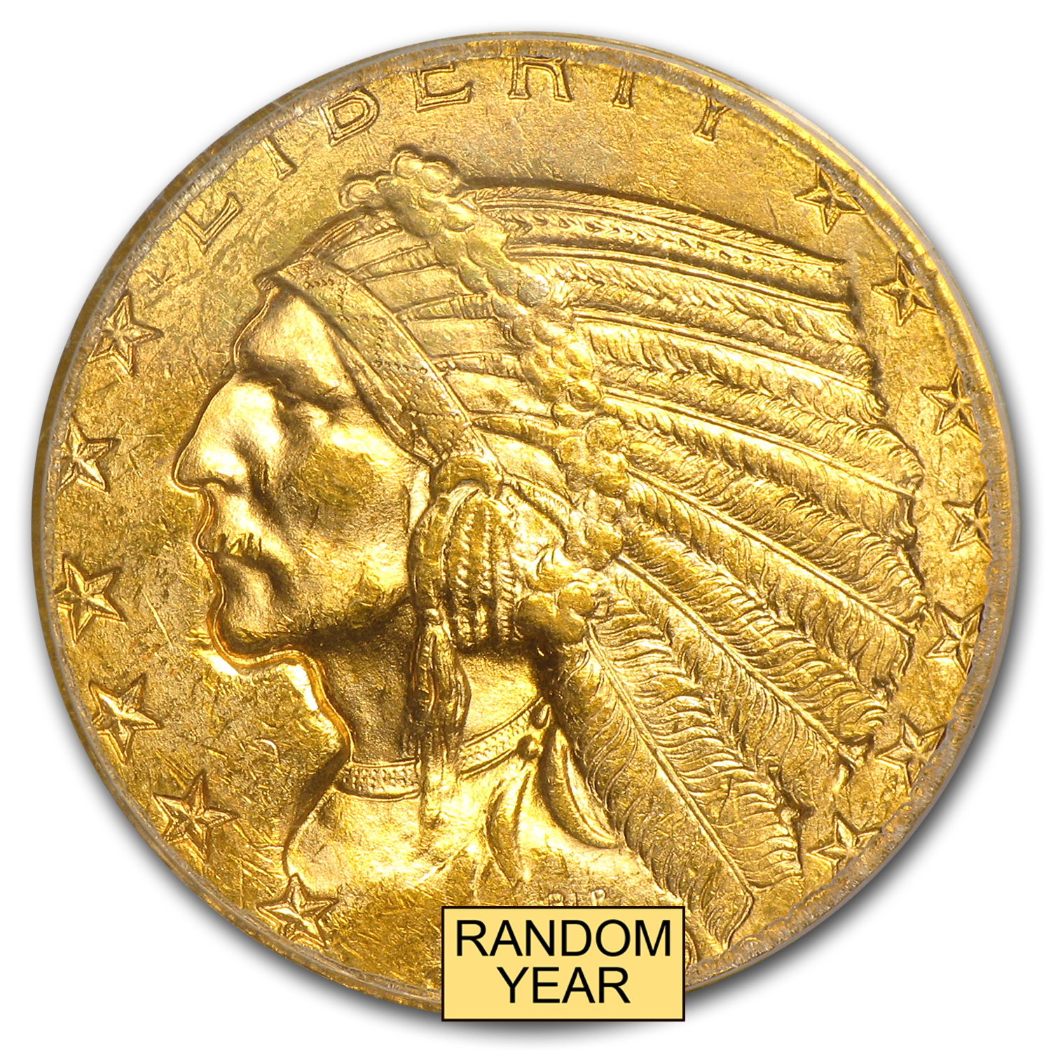 $5 Indian Gold Half Eagle - MS-63 PCGS
