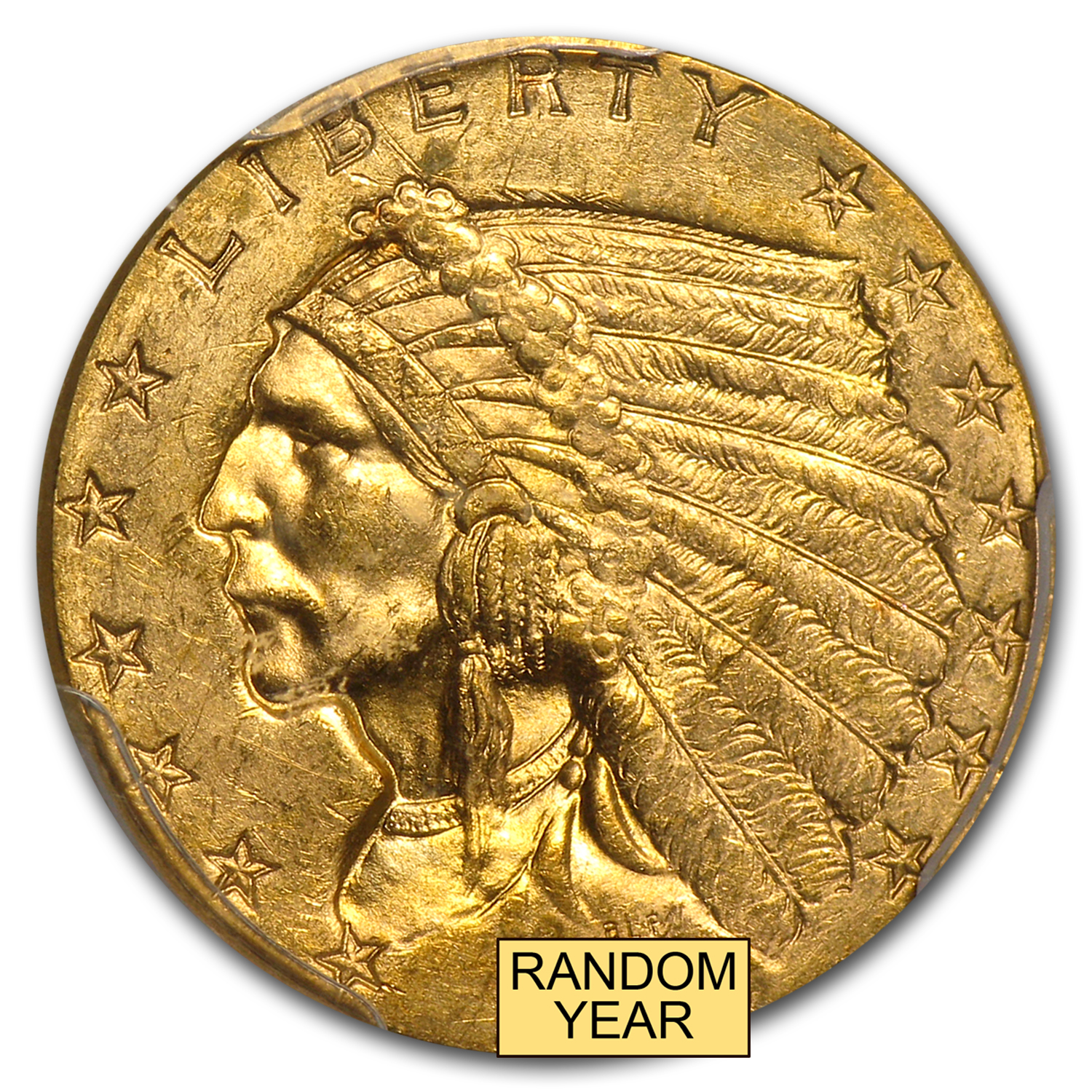 $2.50 Indian Gold Quarter Eagle MS-63 NGC/PCGS