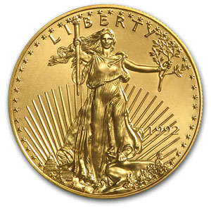 1992 1/10 oz Gold American Eagle MS-69 PCGS