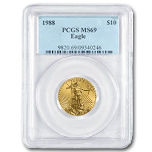 1988 1/4 oz Gold American Eagle MS-69 PCGS