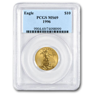 1996 1/4 oz Gold American Eagle MS-69 PCGS