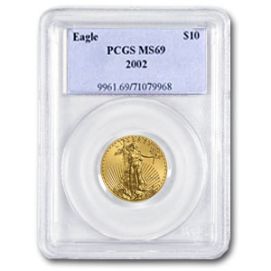 2002 1/4 oz Gold American Eagle MS-69 PCGS