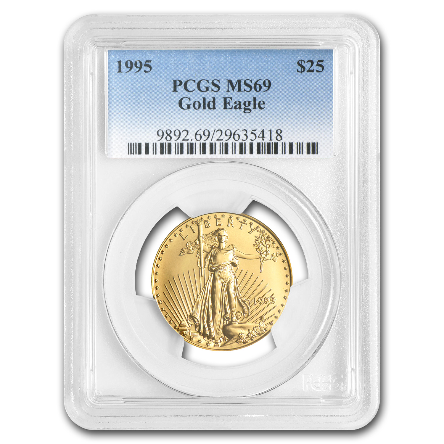 1995 1/2 oz Gold American Eagle MS-69 PCGS