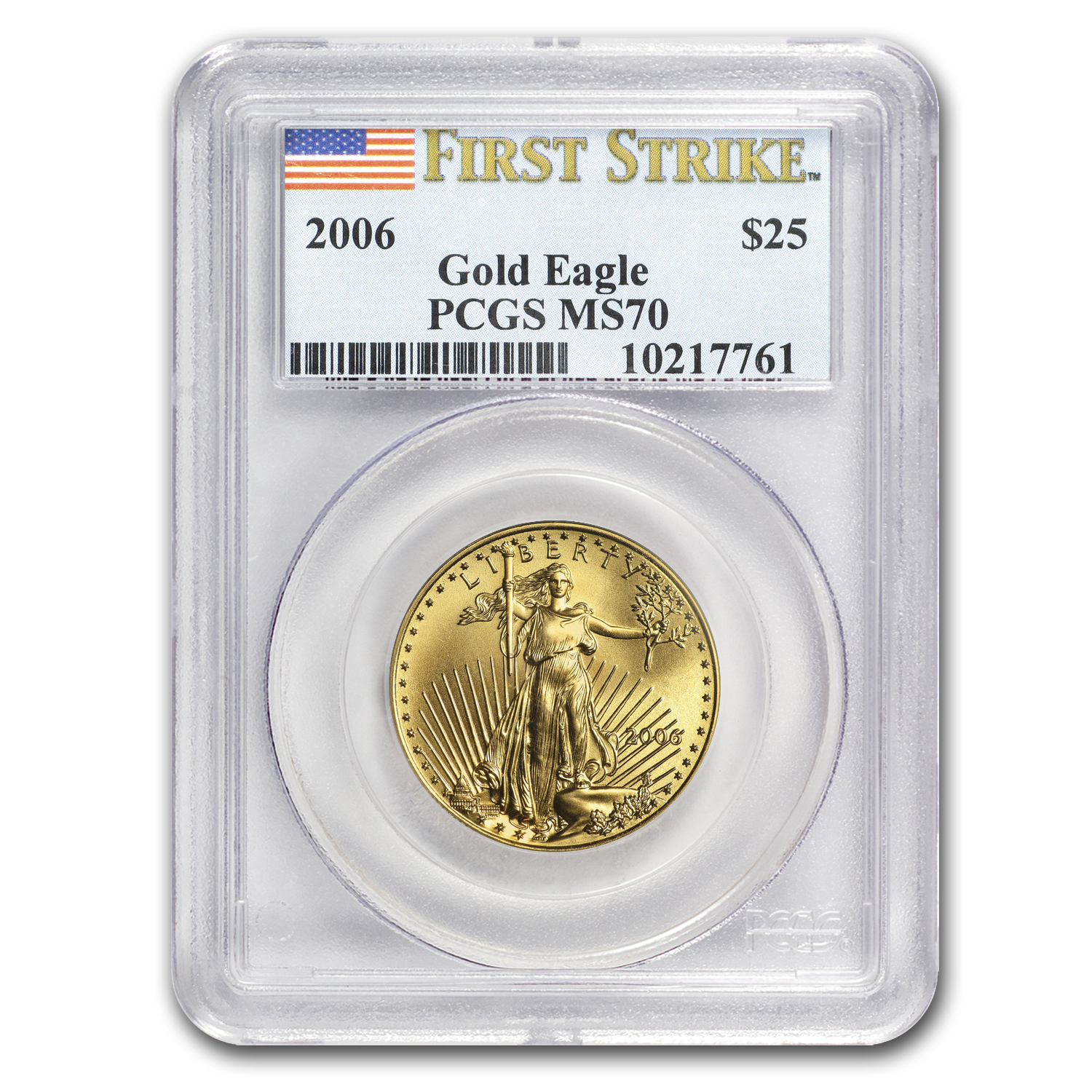 2006 1/2 oz Gold American Eagle MS-70 PCGS (FS)
