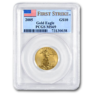 2005 1/4 oz Gold American Eagle MS-69 PCGS (FS)