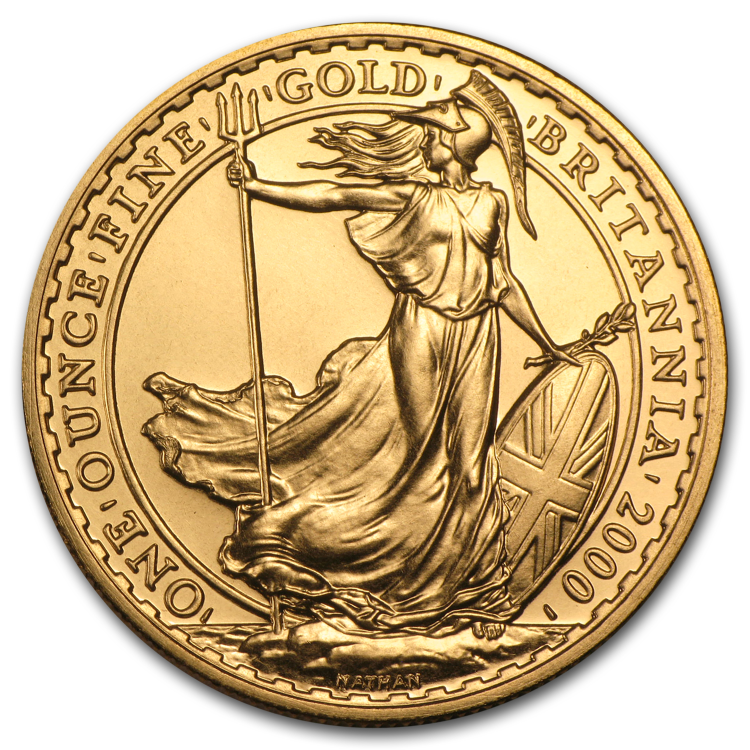2000 1 oz Gold Britannia - Brilliant Uncirculated