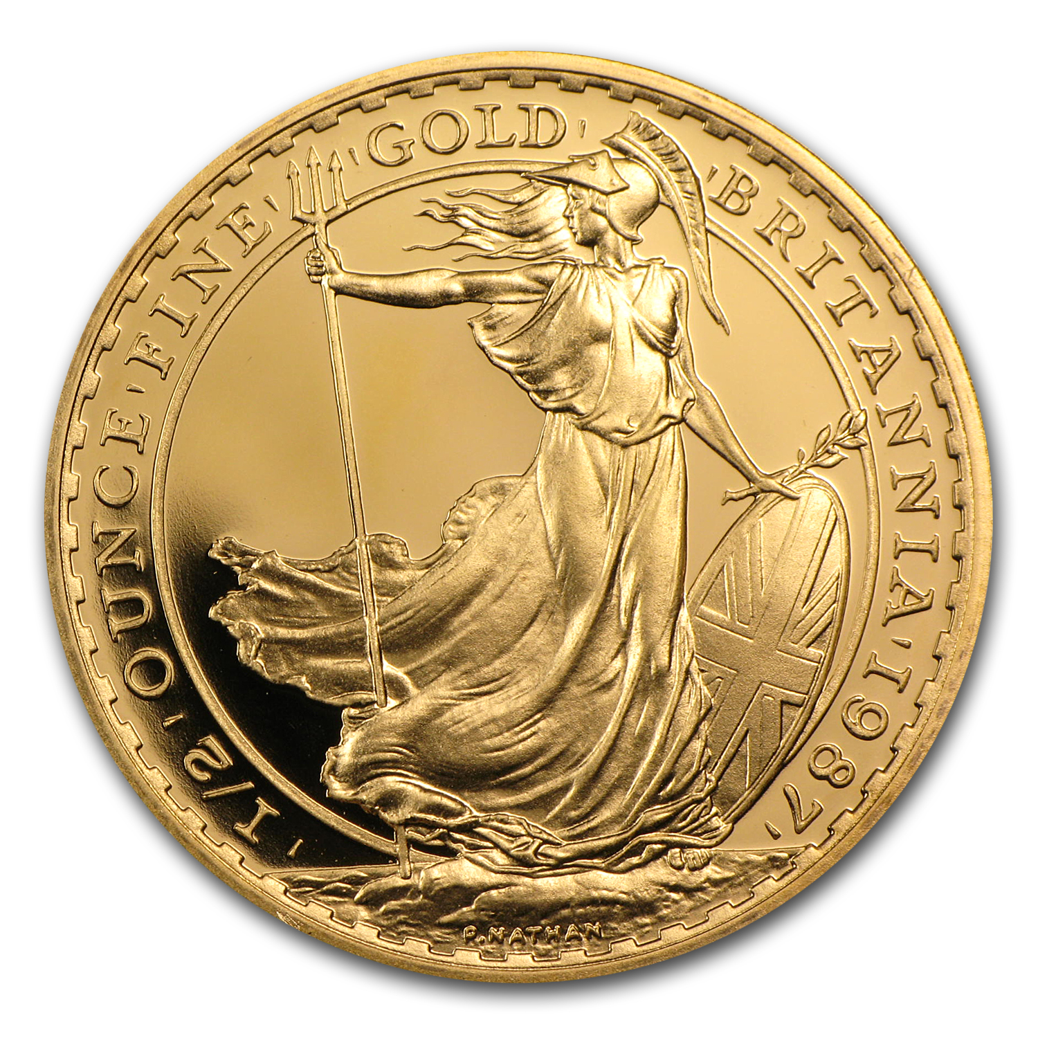 1987 Great Britain 1/2 oz Proof Gold Britannia