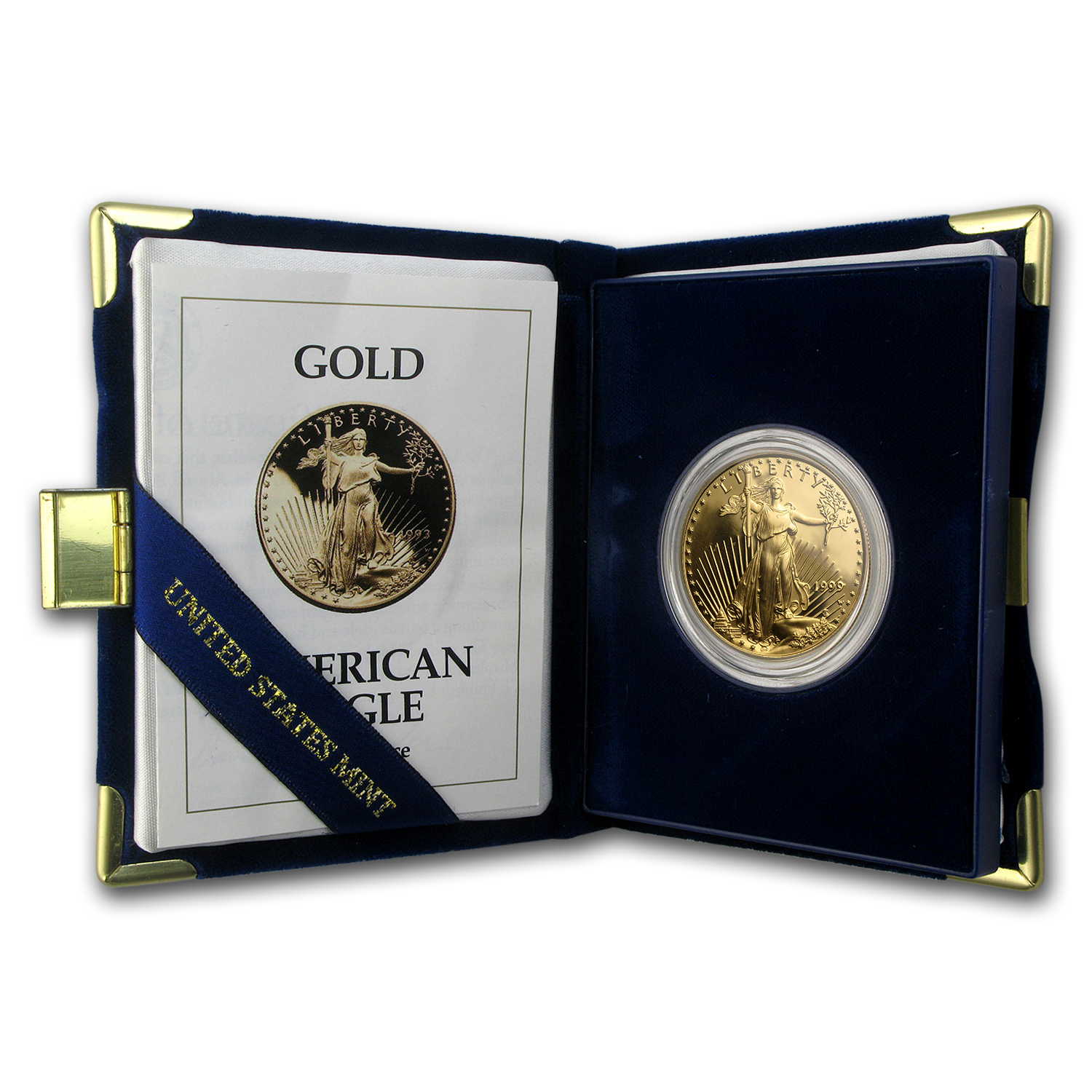 1993-W 1 oz Proof Gold American Eagle (w/Box & COA)