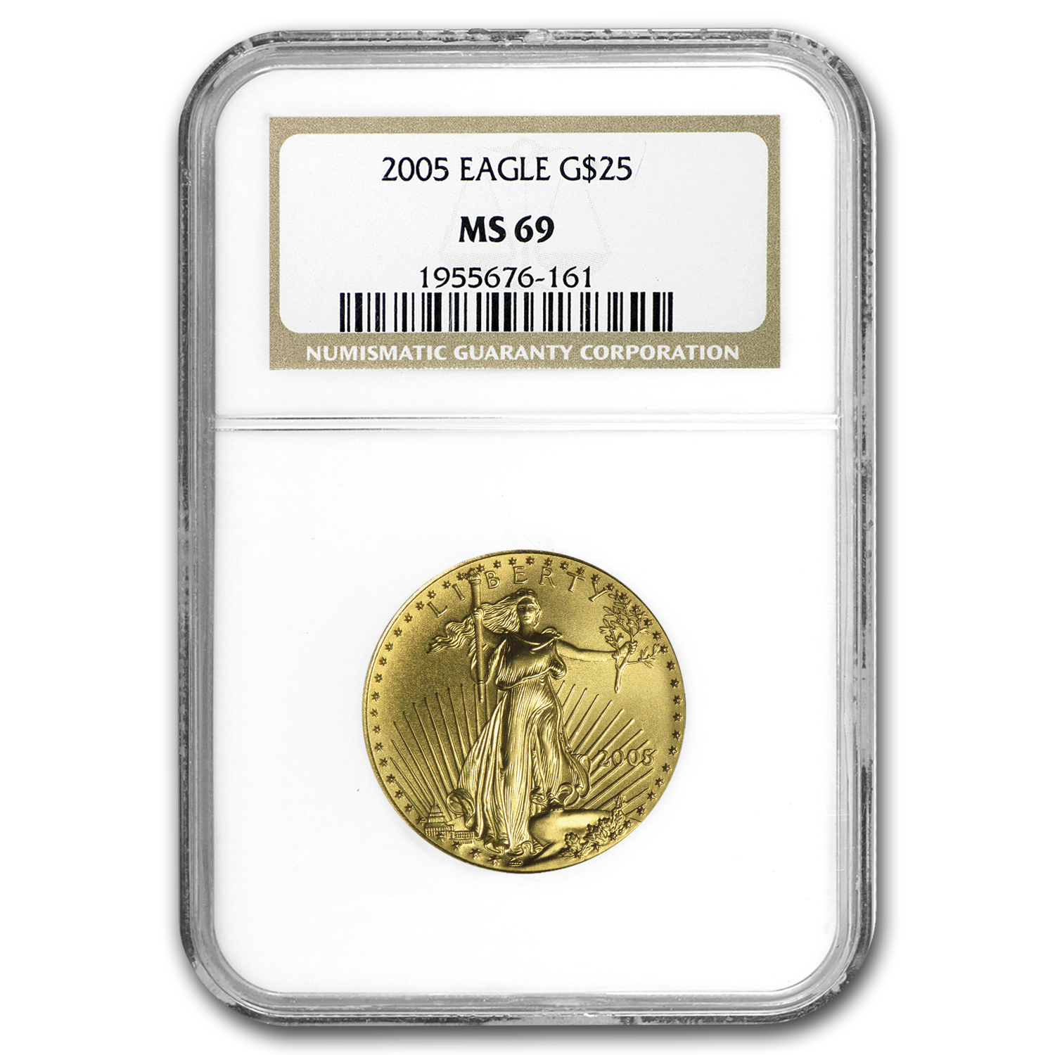 2005 1/2 oz Gold American Eagle MS-69 NGC