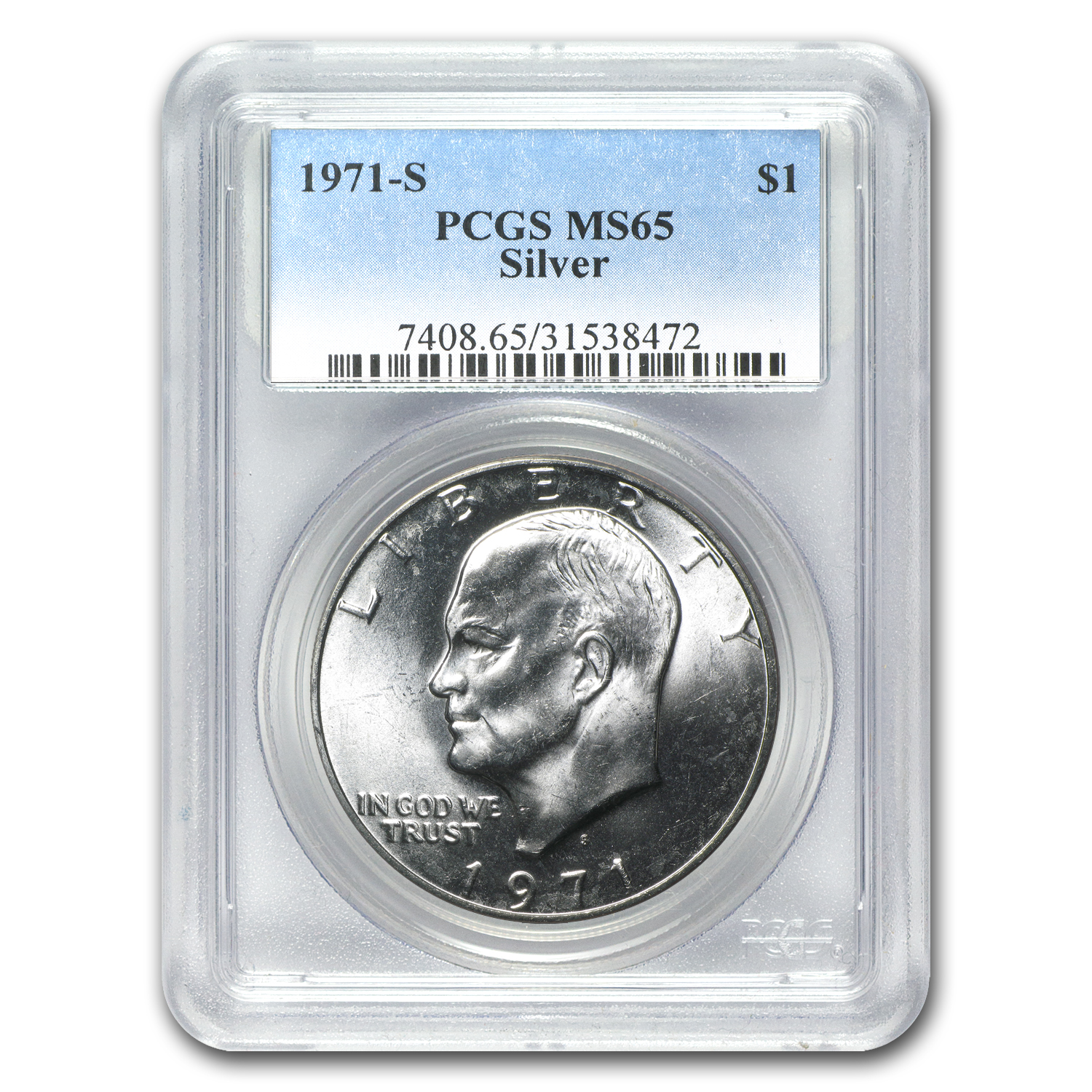 1971-S Silver Eisenhower Dollar MS-65 PCGS