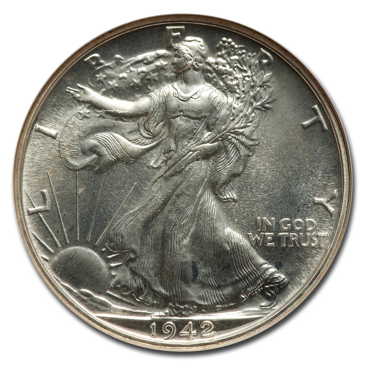 1942 Walking Liberty Half Dollar Proof-66 NGC
