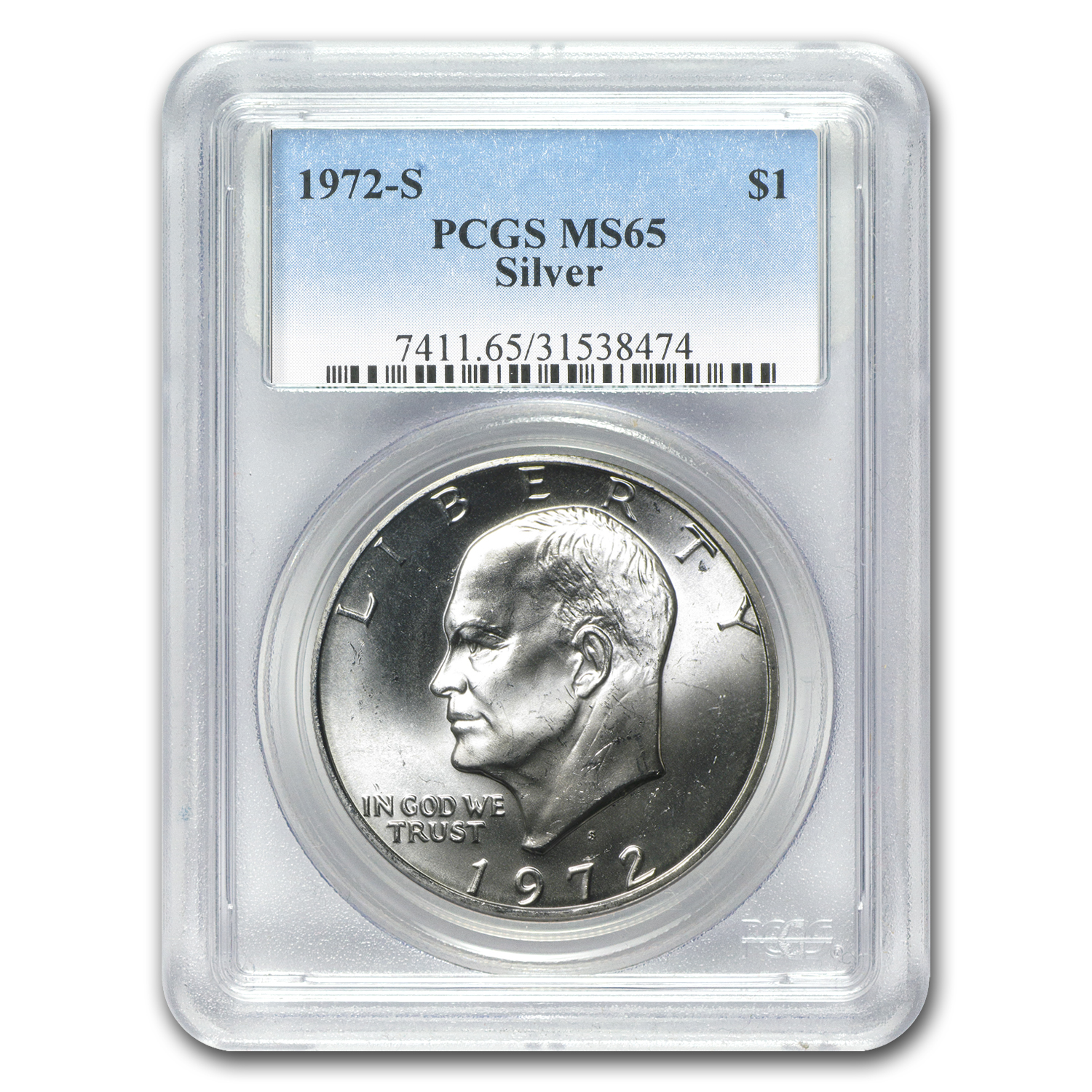 1972-S Silver Eisenhower Dollar MS-65 PCGS