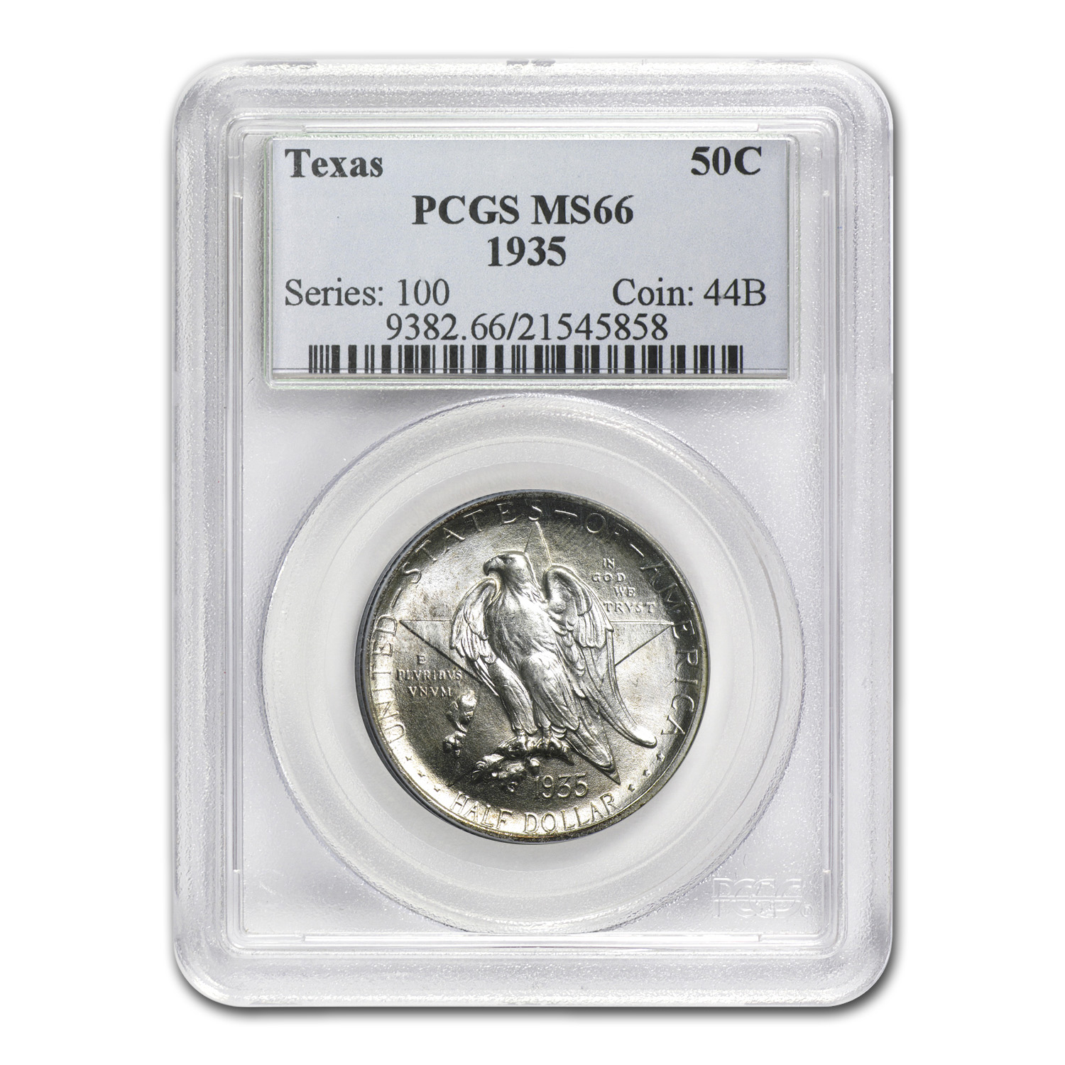 1935 Texas Half Dollar MS-66 PCGS