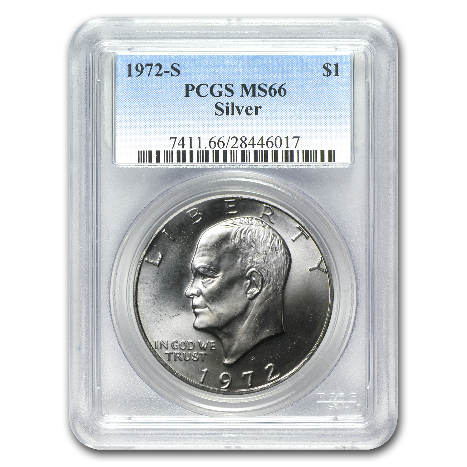 1972-S Silver Eisenhower Dollar MS-66 PCGS