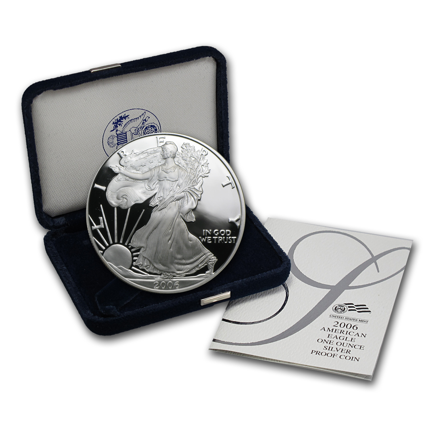 2006-W 1 oz Proof Silver American Eagle (w/Box & COA)
