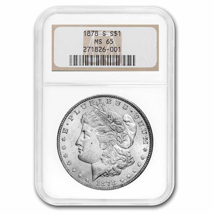 1878-S Morgan Dollar - MS-65 NGC