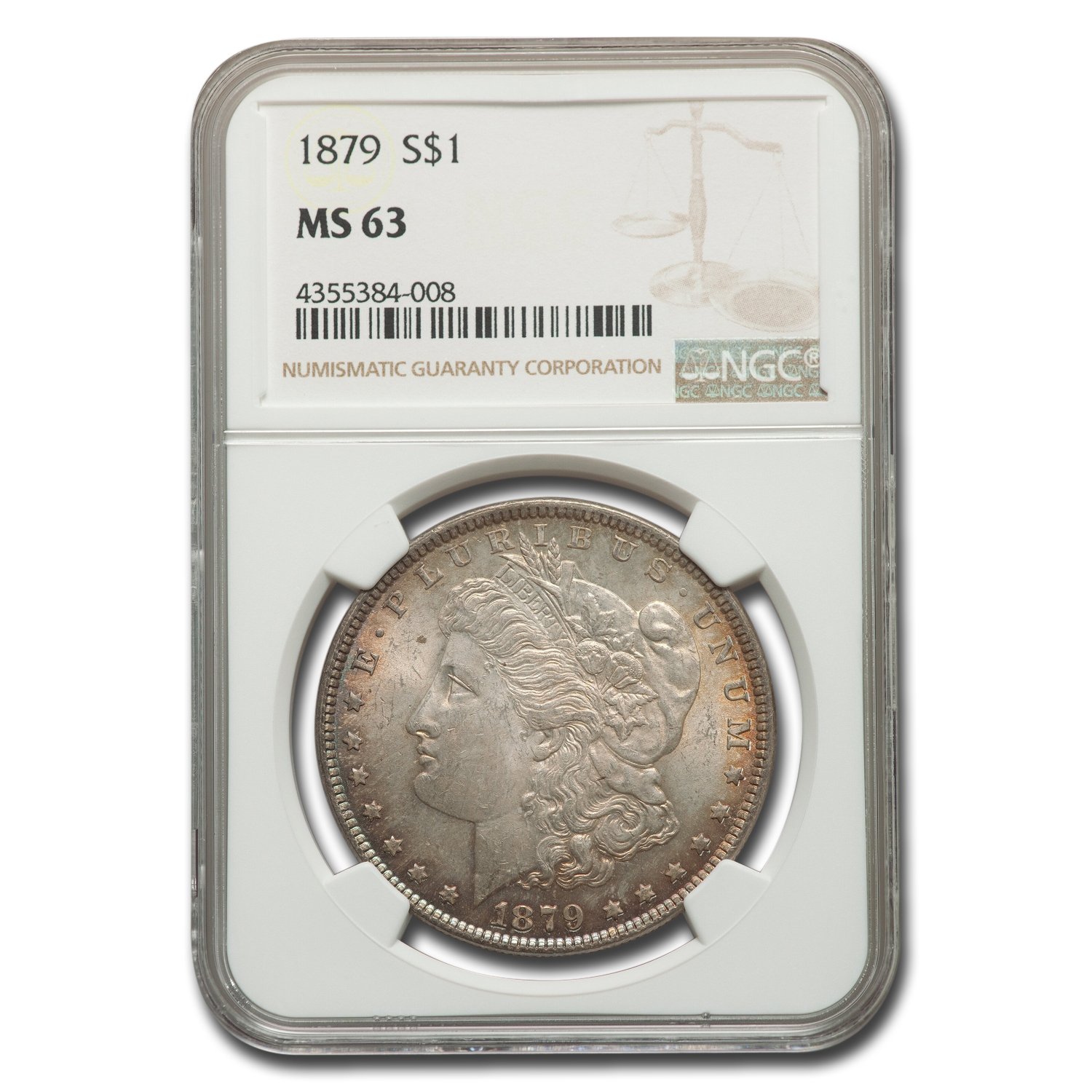 1879 Morgan Dollar MS-63 NGC