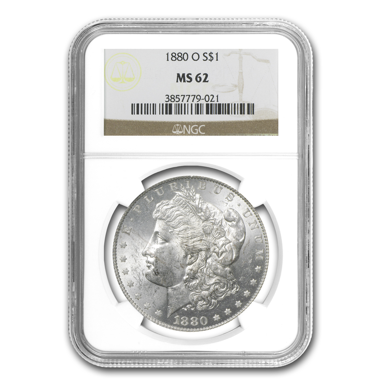1880-O Morgan Dollar MS-62 NGC
