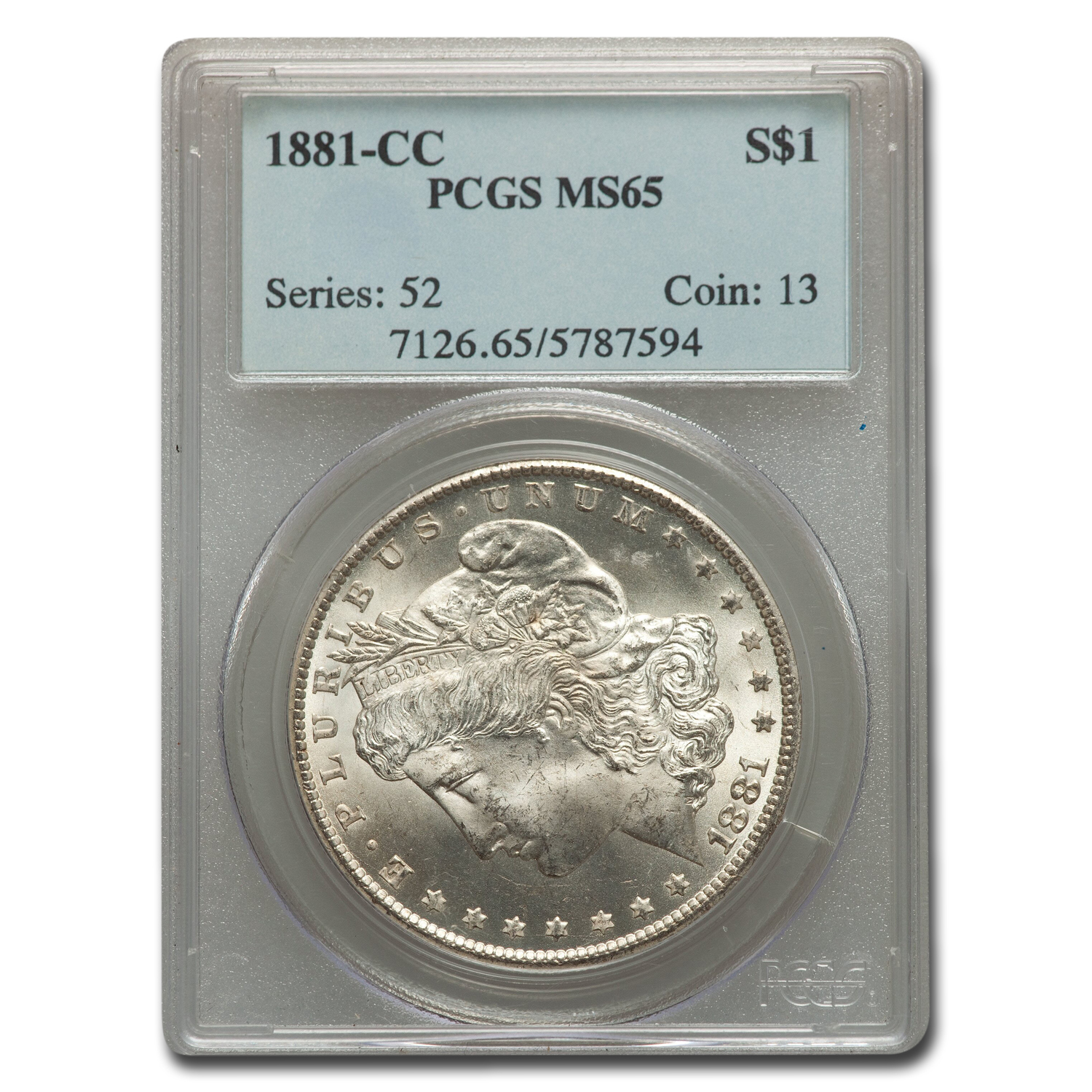 1881-CC Morgan Dollar MS-65 PCGS