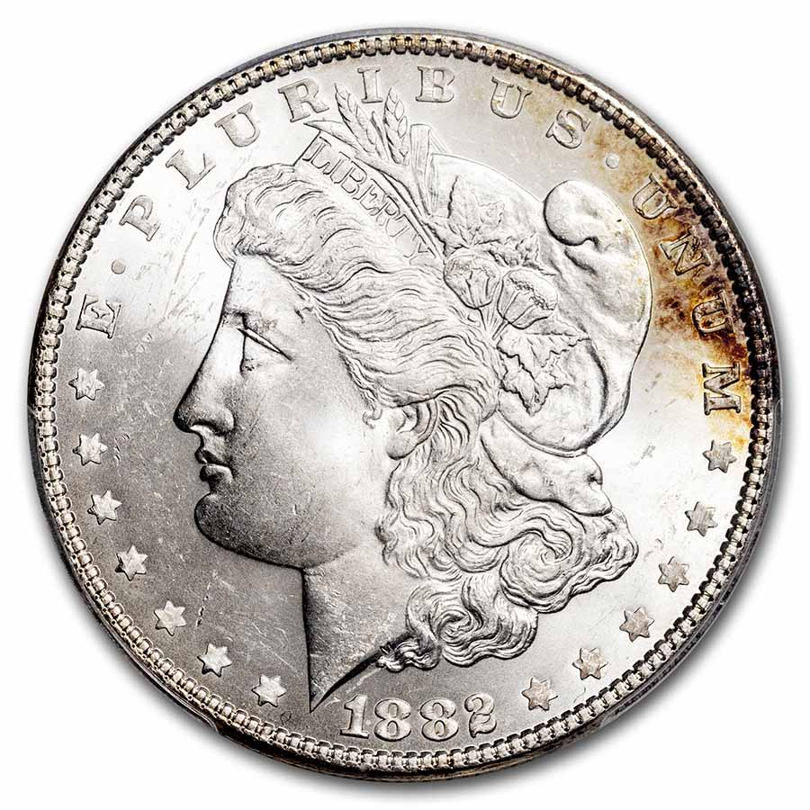 1882 Morgan Dollar MS-65 PCGS