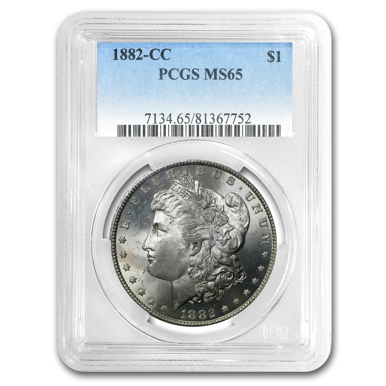 1882-CC Morgan Dollar MS-65 PCGS