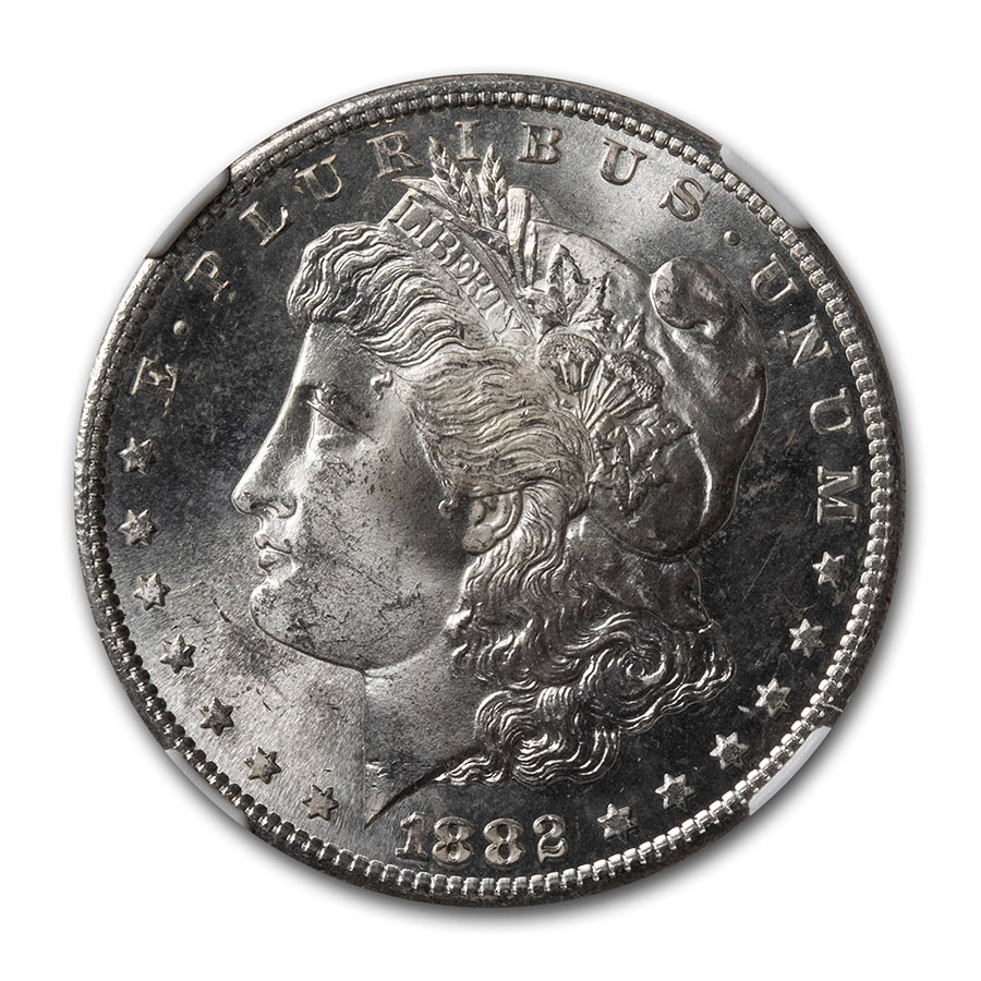 1882-S Morgan Dollar MS-65 NGC