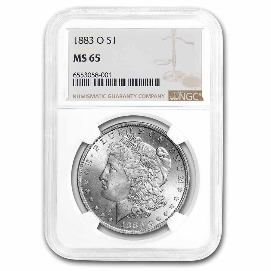 1883-O Morgan Dollar MS-65 NGC
