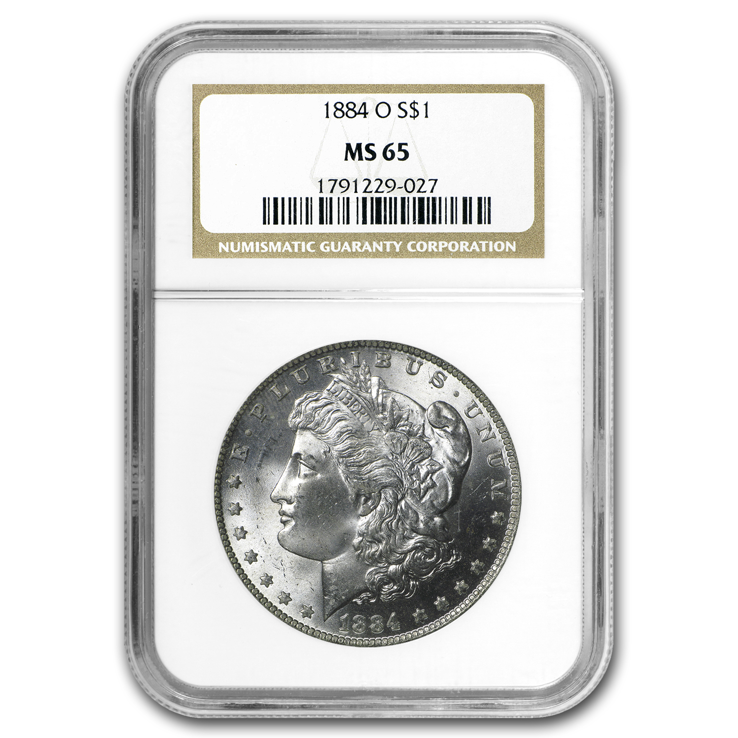 1884-O Morgan Dollar MS-65 NGC