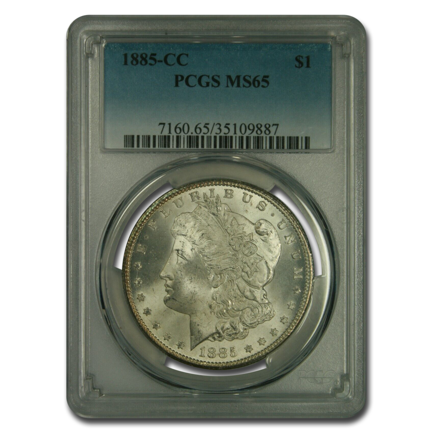 1885-CC Morgan Dollar MS-65 PCGS