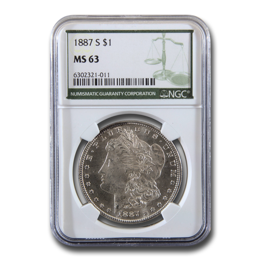 1887-S Morgan Dollar MS-63 NGC